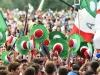 Cracovia, 27 giugno 2016. GMG 2016Messa celebrata dal card. Bagnsco per i giovani pellegrini italiani.